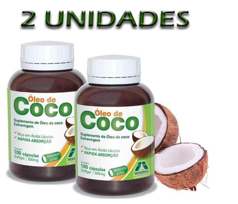 OLEO-DE-COCO-500MG-100-CÁPSULAS-MEDIERVAS---2-UNIDADES