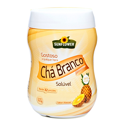 CHA-BRANCO-SOLUVEL-ABACAXI-160g-SUNFLOWER