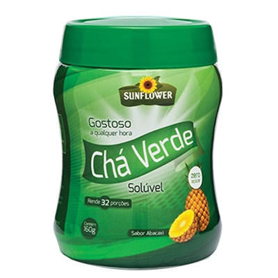 CHA-VERDE-SOLUVEL-ABACAXI-160g-SUNFLOWER