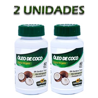OLEO-DE-COCO-60-CÁPSULAS-1000mg---2-UNIDADES---SUNFLOWER