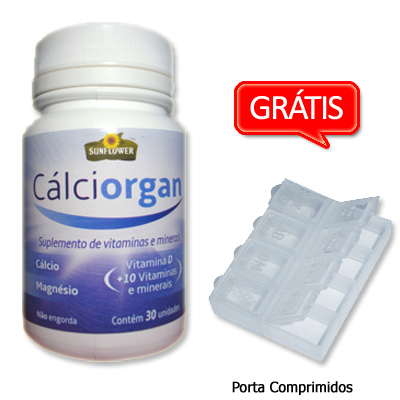 CALCIORGAN---Mix-de-Vitaminas-e-Minerais---30-comprimidos-de-1,9g--SUNFLOWER
