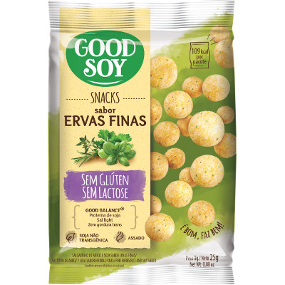 SNACKS DE SOJA ERVAS FINAS 25G GOODSOY     GOOD SOY