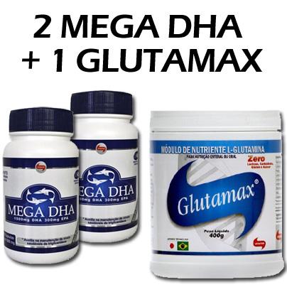 PROMOCAO-MEGA-DHA---2-UNIDADES-DE-OMEGA-3--120-CAPS--E-1-GLUTAMAX-400G--VITAFOR