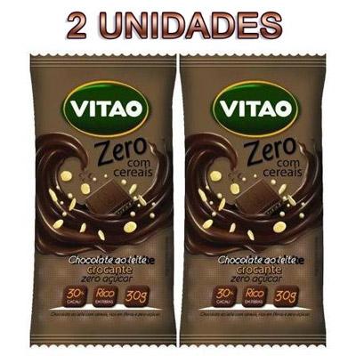 CHOCOLATE-AO-LEITE-ZERO-ACUCAR-C/-CEREAIS-30G-COM-2-UNIDADES--VITAO