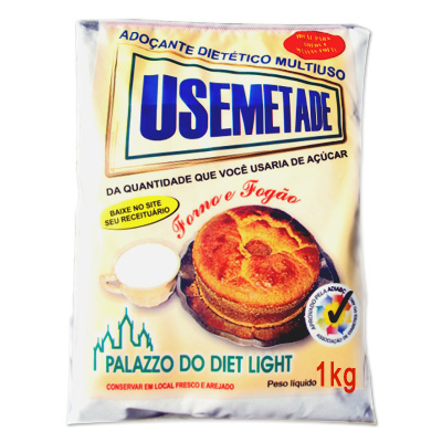 ADOÇANTE USEMETADE 1KG SACO PALAZZO DO DIET LIGHT