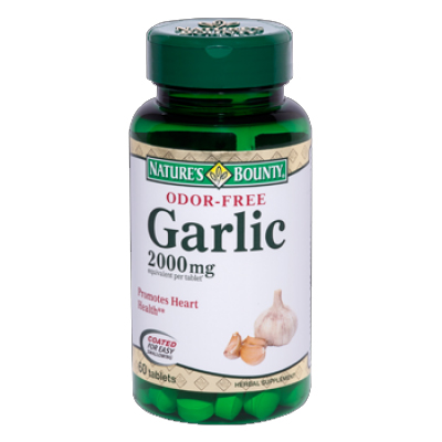 GARLIC - ALHO DESODORIZADO 60 TABLETES NATURES BOUNTY