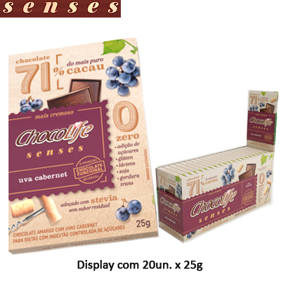 CHOCOLIFE-71-CACAU-SENSES-DISPLAY-COM-20-UNIDADES-DE-25G----CHOCO-LIFE