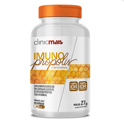 IMUNO-PROPOLIS-COM-VITAMINAS-60-CAPS-450mg-CLINIC-MAIS