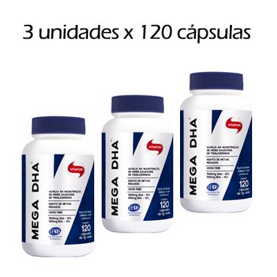 PROMOCAO-MEGA-DHA---OMEGA-3---120-CAPSULAS-VITAFOR---3-UNIDADES