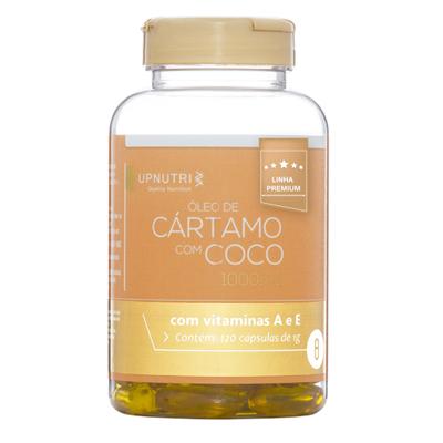 OLEO-DE-CARTAMO--E-COCO---120-CAPSULAS---1000MG--UPNUTRI