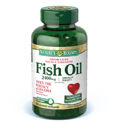 FISH OIL - OLEO DE PEIXE - DOUBLE OMEGA - OMEGA 3 -  90 CAPS NATURES BOUNTY