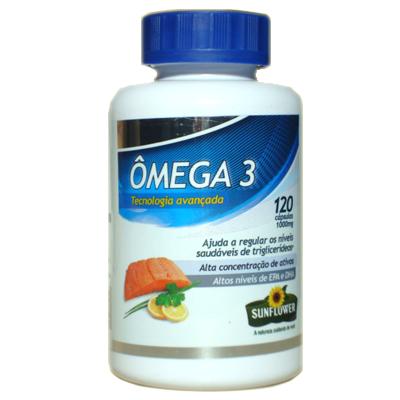 fe07b67bb Loja dos Naturais - Omega 3 - oleo de peixe 120 caps - 1g - sunflower