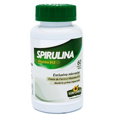 SPIRULINA 60 CAPSULAS 400MG SUNFLOWER