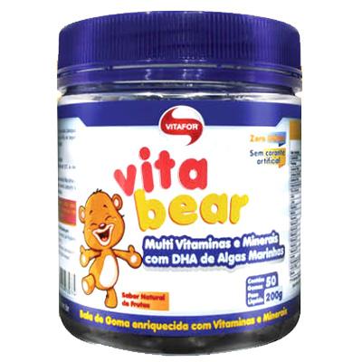 VITABEAR-VITAFOR-50-GOMAS-DE-4G---MULTI-VITAMINAS-COM-DHA-DE-ALGAS-MARINHAS