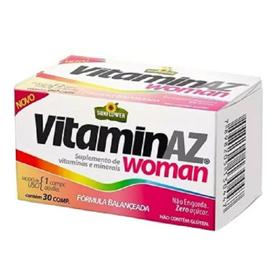 VITAMINAZ-WOMAN-SUPLEMENTO-VITAMINICA-PARA-MULHER--30-COMPRIMIDOS--SUNFLOWER